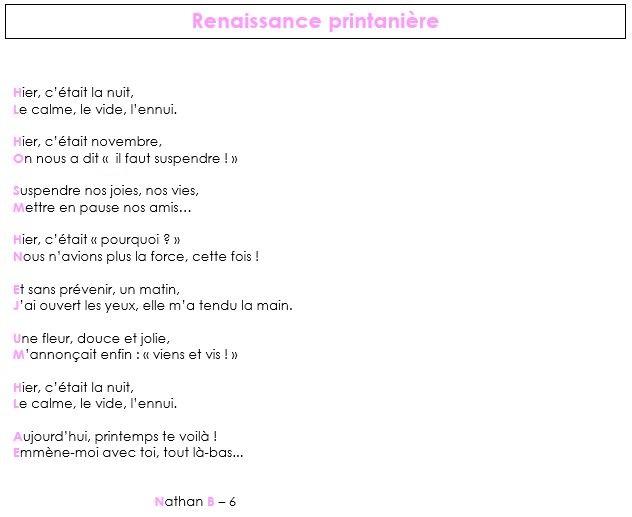 gagnant catégorie poesie